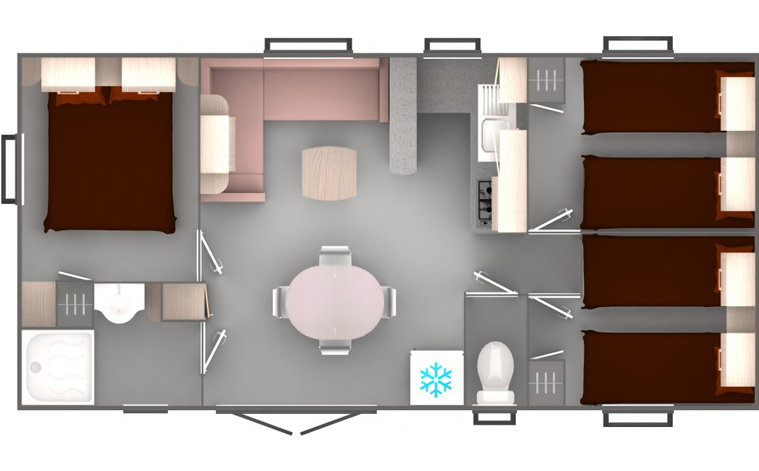Mobil Home Xxl  Chambres